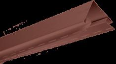 """Планка """"наружный угол"""", 3м, цвет Красно-коричневый"""